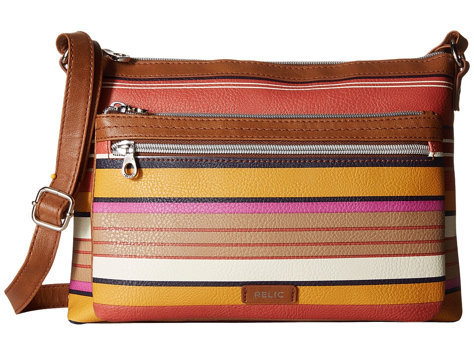 Relic - Evie East West Crossbody (Colorful Stripes) Cross Body Handbags