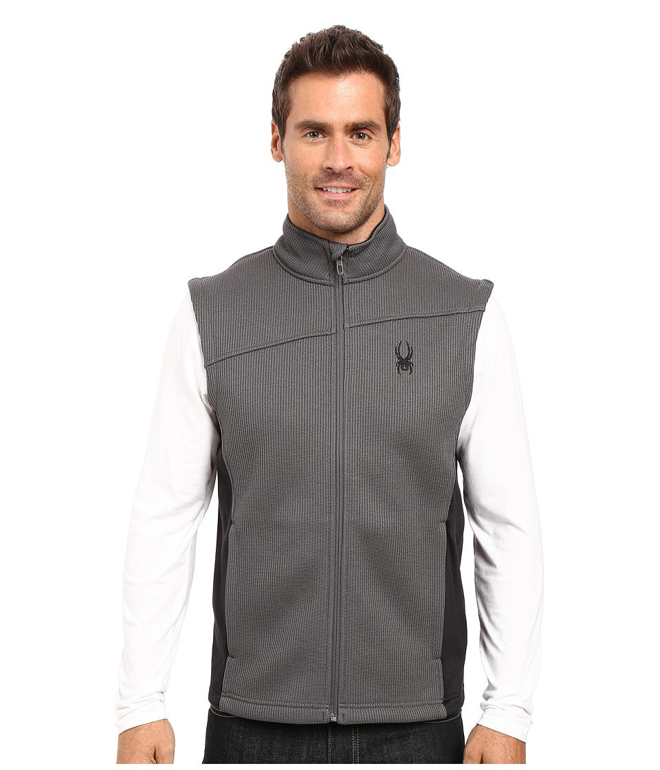 Spyder - Constant Mid Weight Core Sweater Vest (Polar/Black 1) Men's Sweater