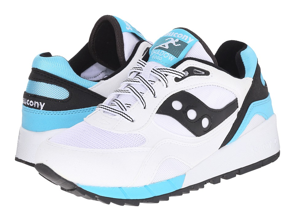 Saucony Originals - Shadow 6000 (White/Black) Men's Classic Shoes