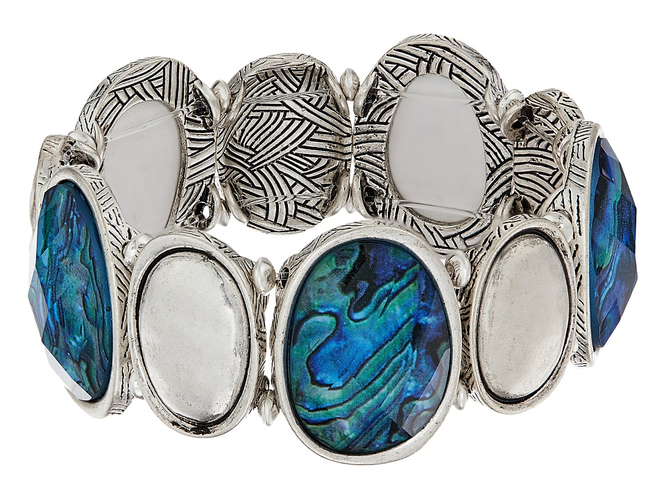 The Sak - Set Stone Stretch Bracelet (Abalone) Bracelet