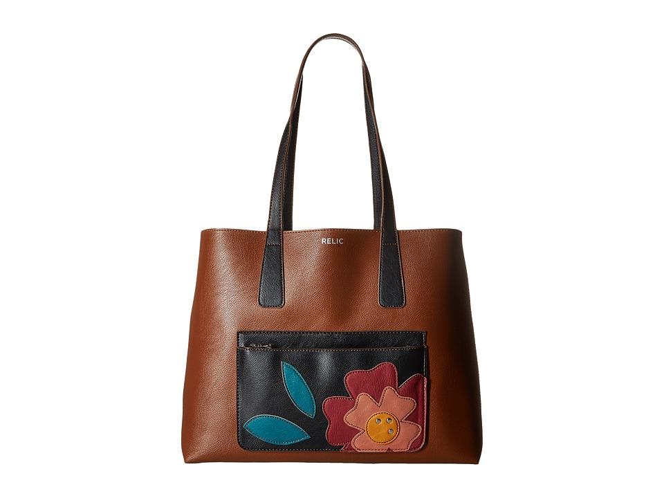 Relic - Claire Reversible Tote (Brown Multi) Tote Handbags