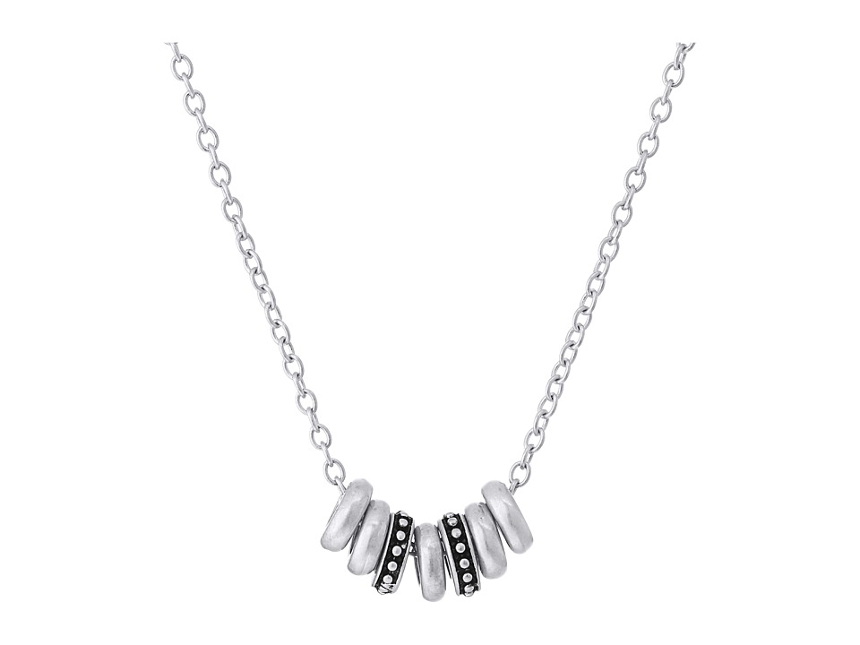 The Sak - Multi Ring Necklace 16 (Silver) Necklace
