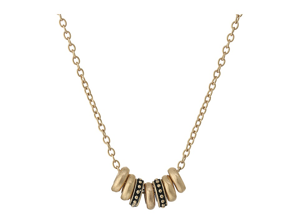 The Sak - Multi Ring Necklace 16 (Gold) Necklace