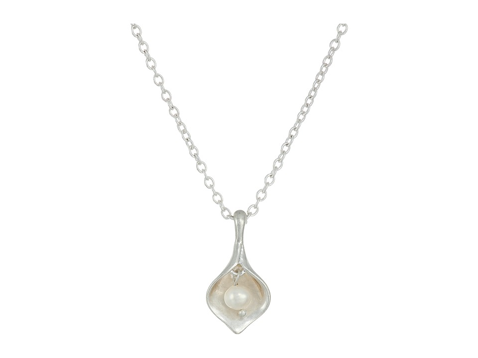 The Sak - Calla Lily Pendant Necklace 16 (Silver) Necklace