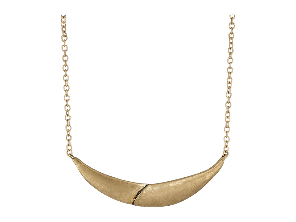 The Sak - Overlap Frontal Necklace 16 (Gold) Necklace