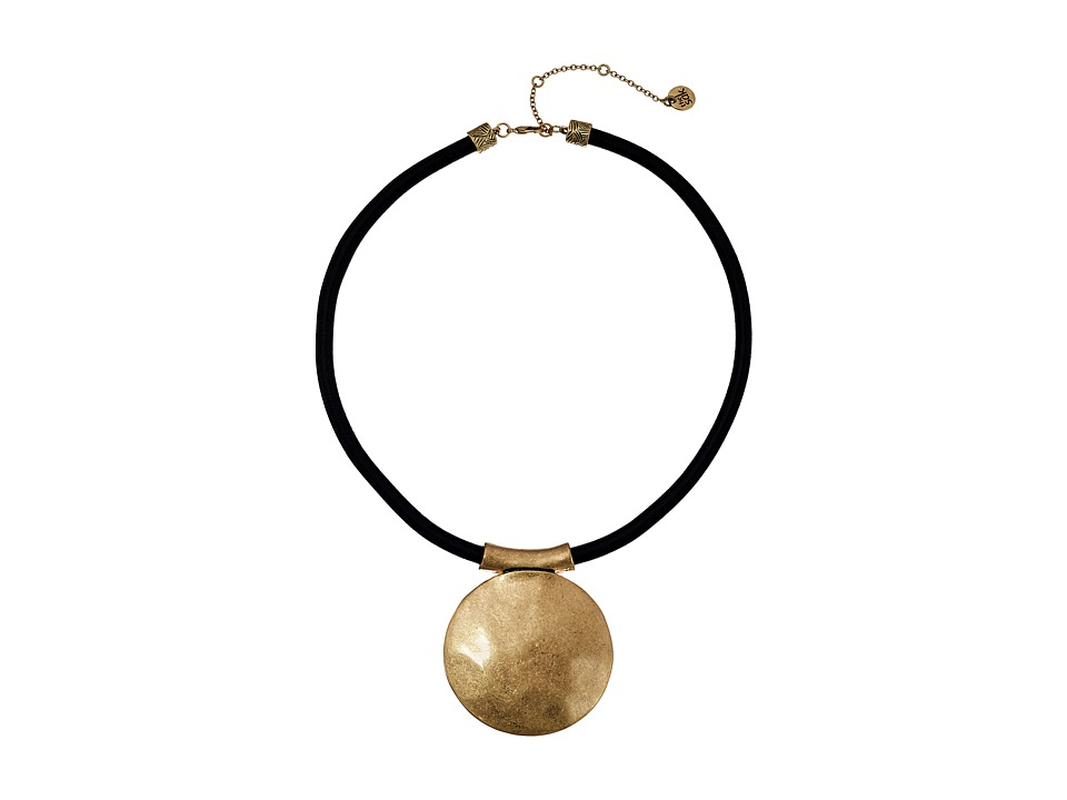 The Sak - Large Disc Pendant Necklace 16 (Gold) Necklace