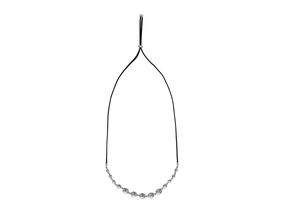 The Sak - Scoop Slider Necklace 30 (Silver) Necklace