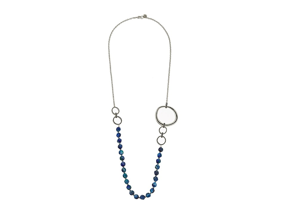 The Sak - Beaded Link Necklace 34 (Blue) Necklace