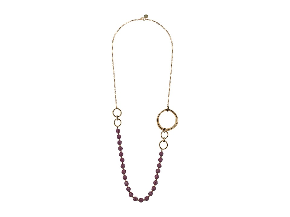 The Sak - Beaded Link Necklace 34 (Berry) Necklace