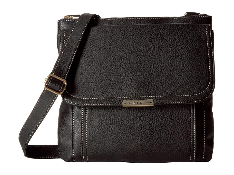 Relic - Kenna Top Zip Crossbody (Black) Cross Body Handbags