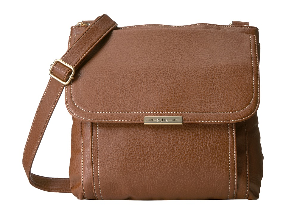 Relic - Kenna Top Zip Crossbody (Saddle) Cross Body Handbags