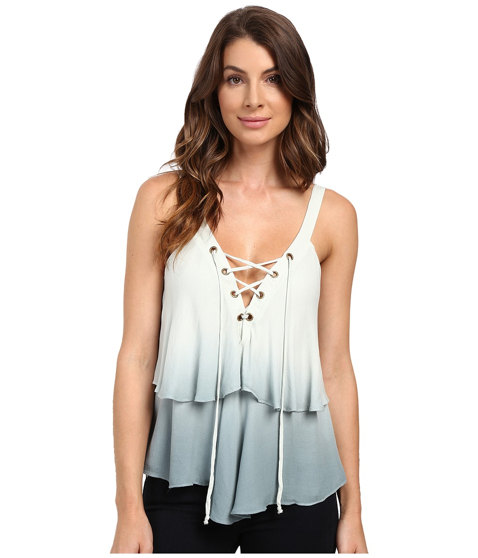 Young Fabulous & Broke - Irene Top (Teal Ombre) Women's Clothing