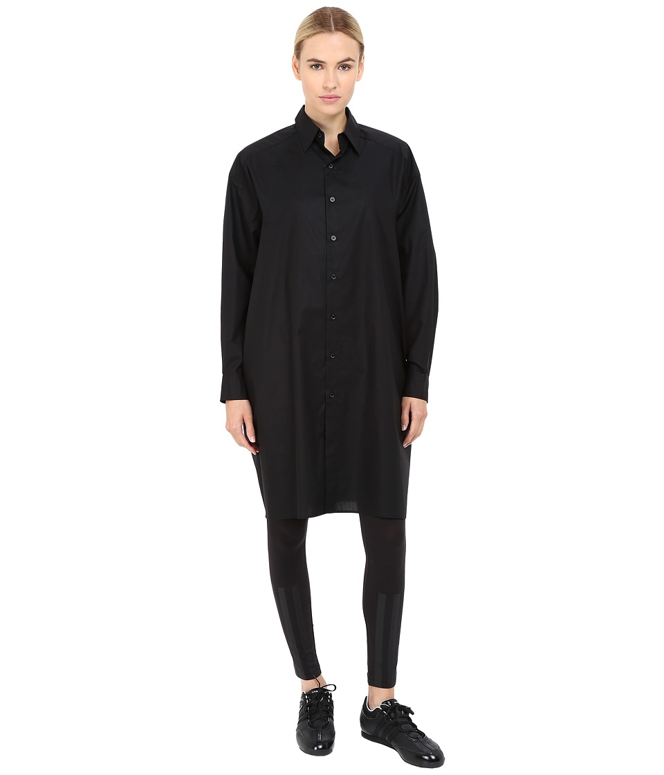 adidas Y-3 by Yohji Yamamoto - Long Shirt (Black) Women's Clothing
