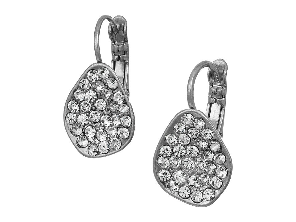 The Sak - Pave Scoop Drop Earrings (Silver) Earring
