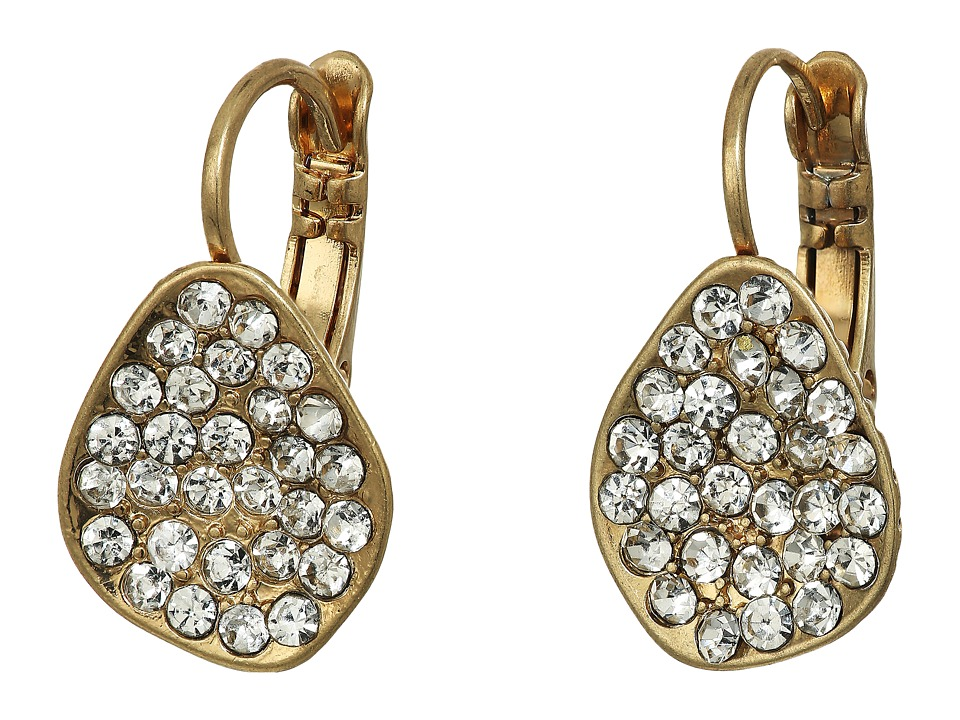 The Sak - Pave Scoop Drop Earrings (Gold) Earring