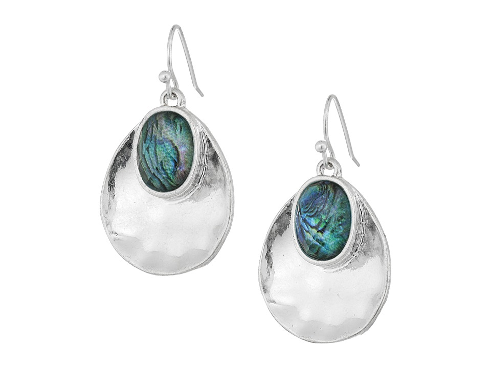 The Sak - Color Scoop Drop Earrings (Abalone) Earring
