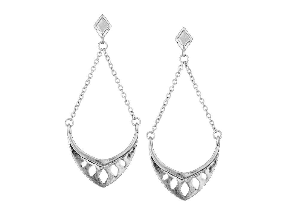 The Sak - Pierced Trapeze Earrings (Silver) Earring
