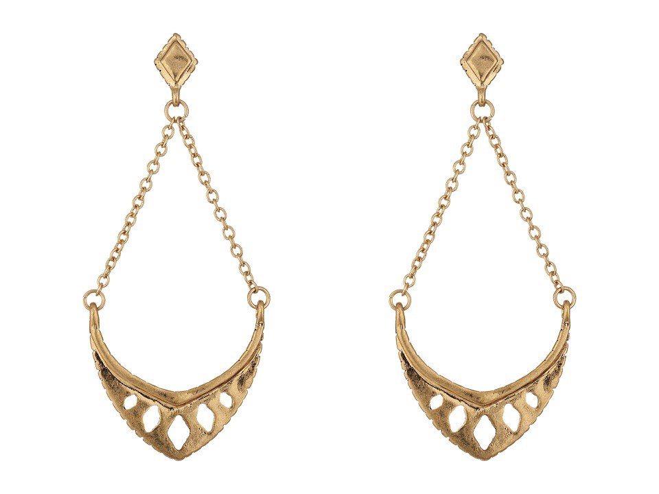 The Sak - Pierced Trapeze Earrings (Gold) Earring