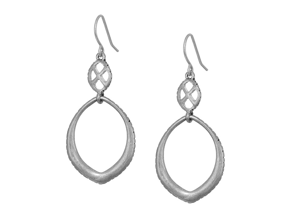The Sak - Teardrop Double Drop Earrings (Silver) Earring