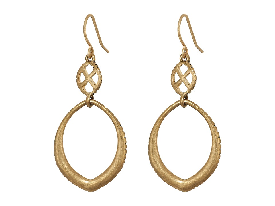 The Sak - Teardrop Double Drop Earrings (Gold) Earring