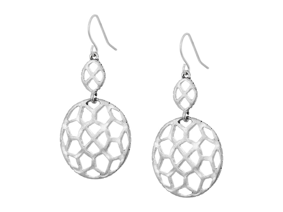 The Sak - Pierced Double Drop Earrings (Silver) Earring