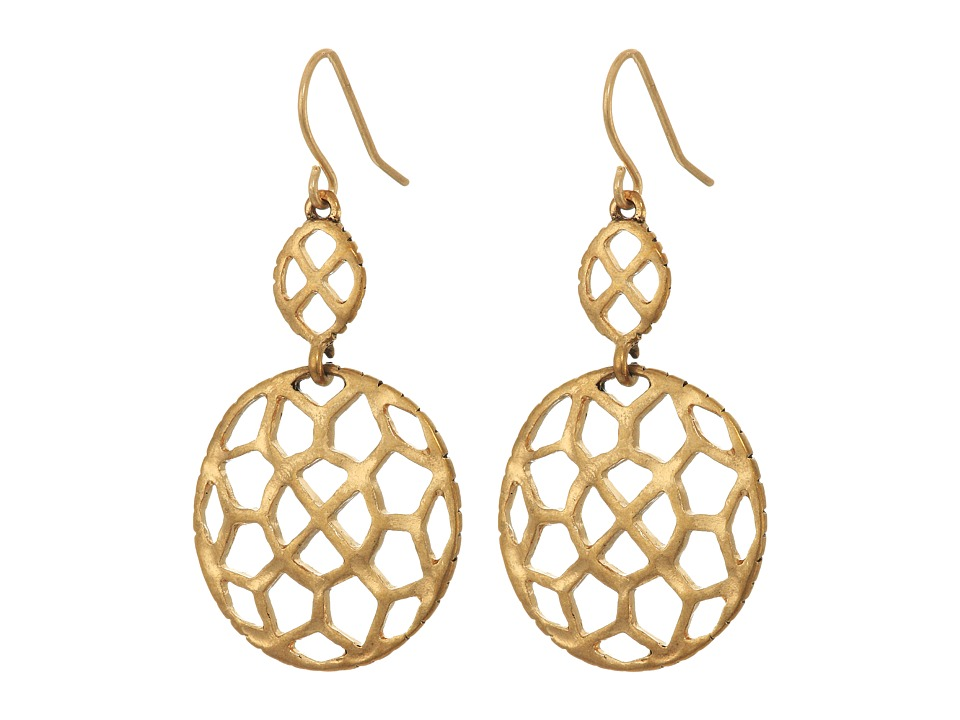 The Sak - Pierced Double Drop Earrings (Gold) Earring
