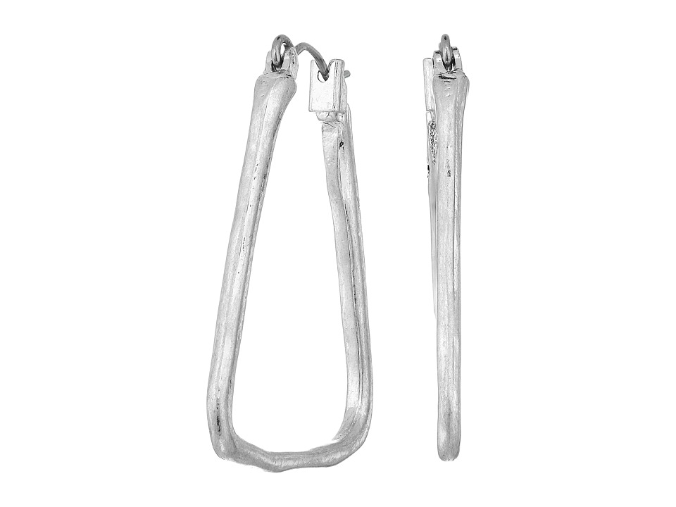 The Sak - Trapezoid Hoop Earrings (Silver) Earring