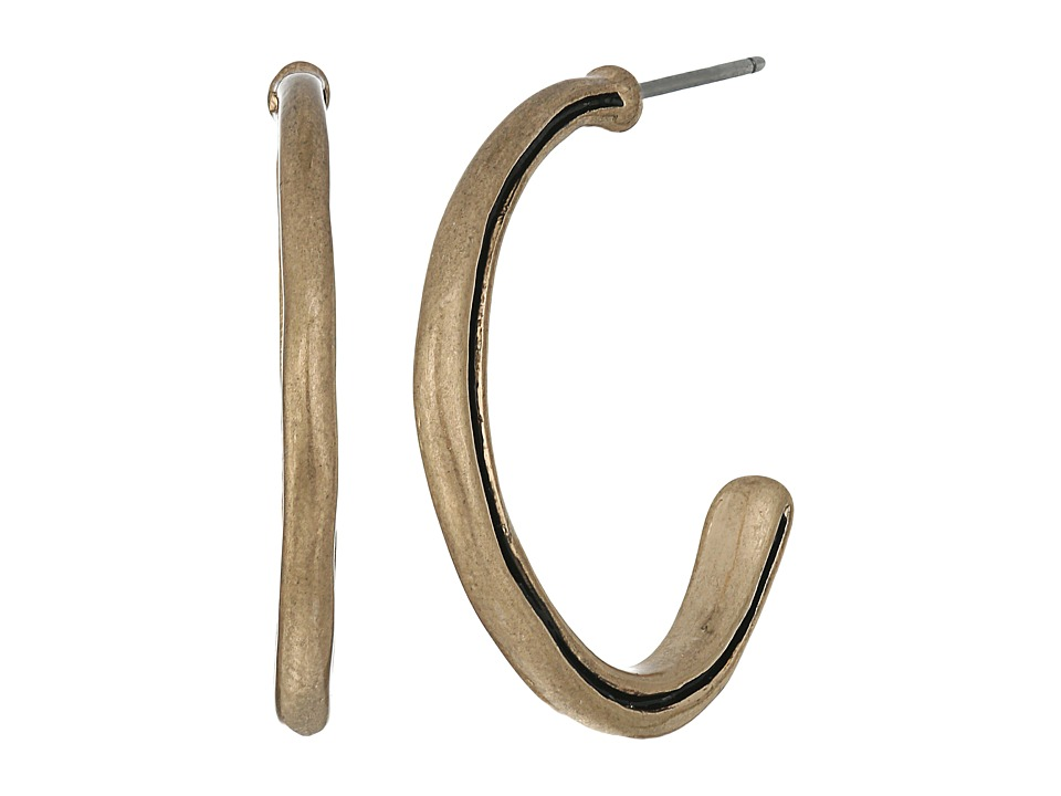 The Sak - Ribbed C Hoop Earrings (Gold) Earring