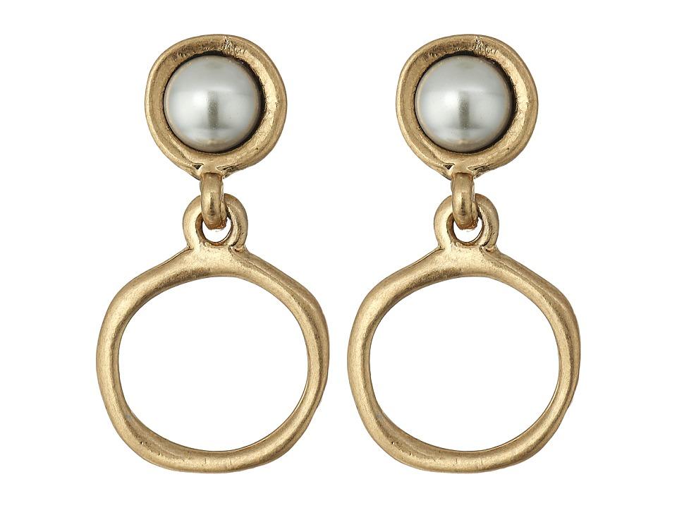 The Sak - Small Pearl Doorknocker Earrings (Gold) Earring