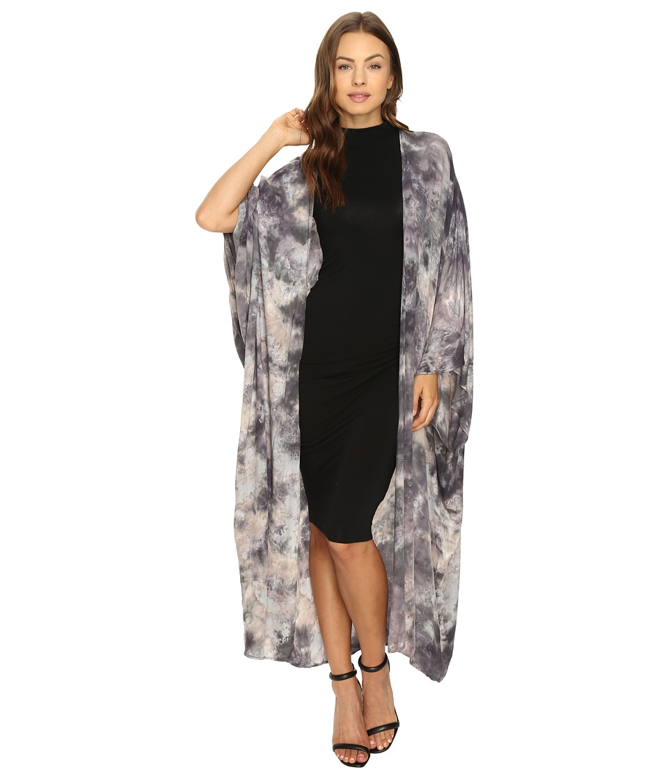 Young Fabulous & Broke - Kendrick Kimono (Grey Grunge Wash) Women's Clothing