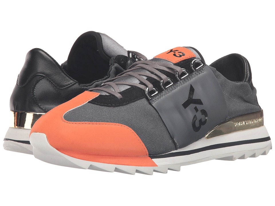 adidas Y-3 by Yohji Yamamoto - Rhita Sport (Night Metallic/Craft Orange/Core Black) Women's Lace up casual Shoes
