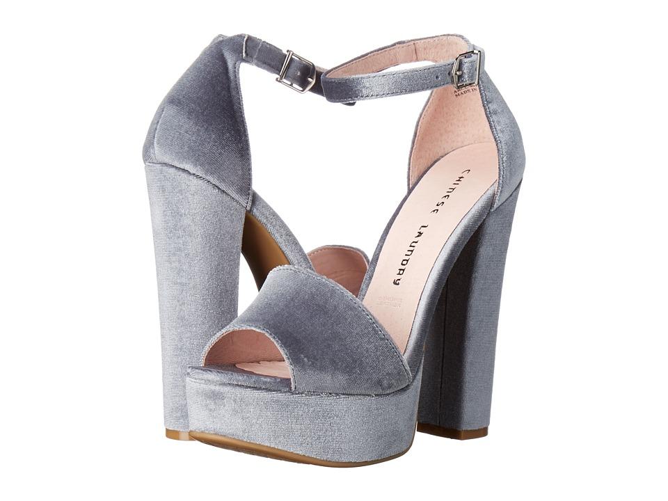 Chinese Laundry - Ace (Steel Blue Rich Velvet) High Heels