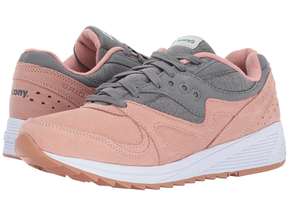 Saucony Originals - Grid 8000 (Salmon/Charcoal) Men's Classic Shoes