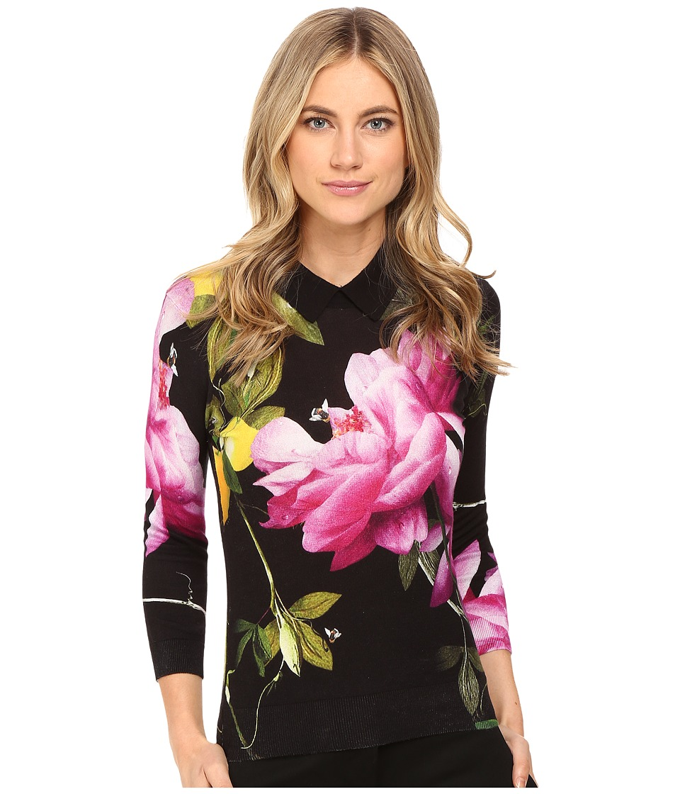 Ted Baker - Merilie Citrus Bloom Sweater (Black) Women's Sweater