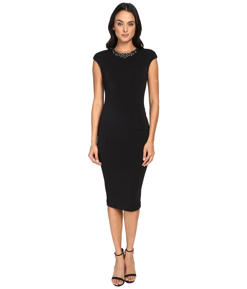 Ted Baker - Dardee Embellished Bodycon Dress (Black) Women's Dress
