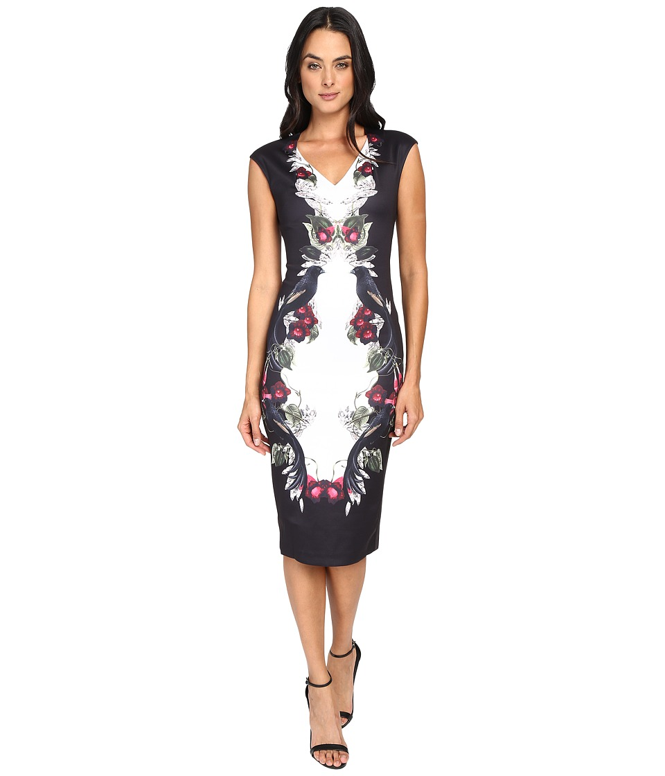 Ted Baker - Darnet Bejewelled Shadow Bodycon Dress (Black) Women's Dress