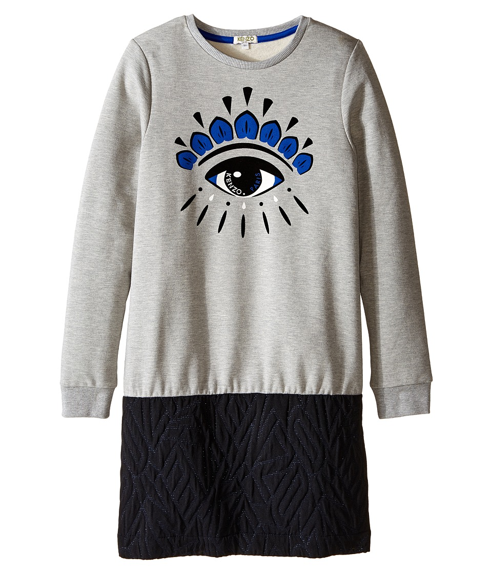 Kenzo Kids - Altesse Dress (Big Kids) (Marl Grey) Girl's Dress