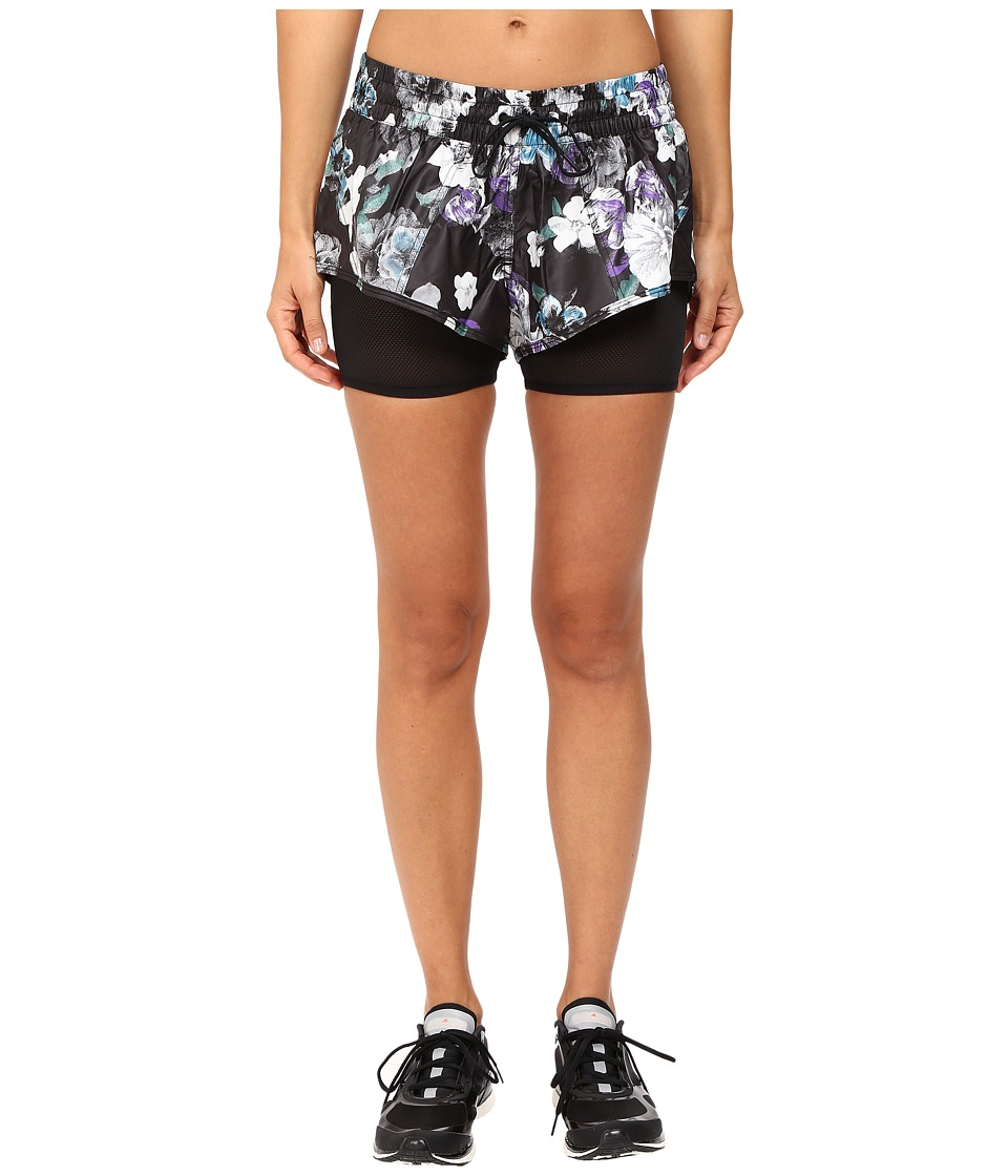 adidas by Stella McCartney - Run Dark Blossom 2-in-1 Shorts AX7269 (Black/Deepest Purple) Women's Shorts
