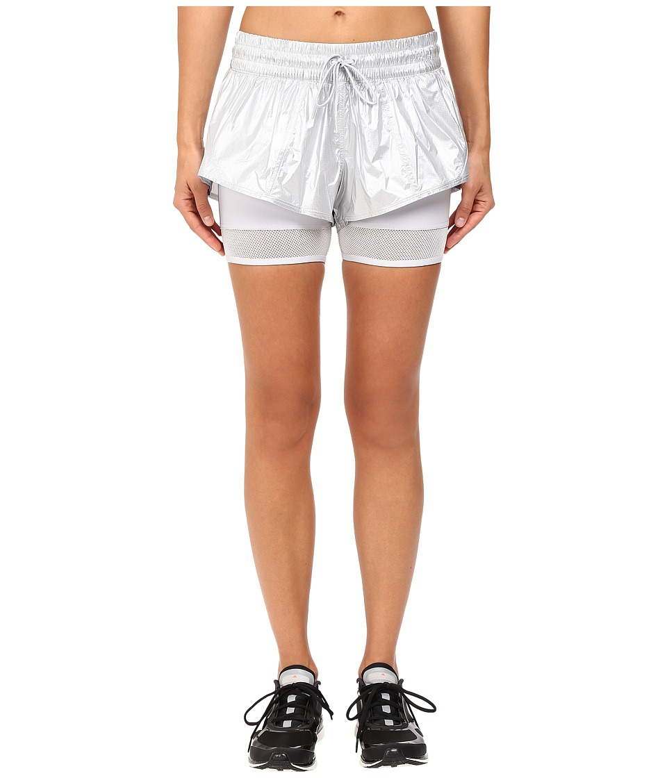 adidas by Stella McCartney - Run Medals 2-in-1 Shorts AX7271 (Silver Metallic) Women's Shorts