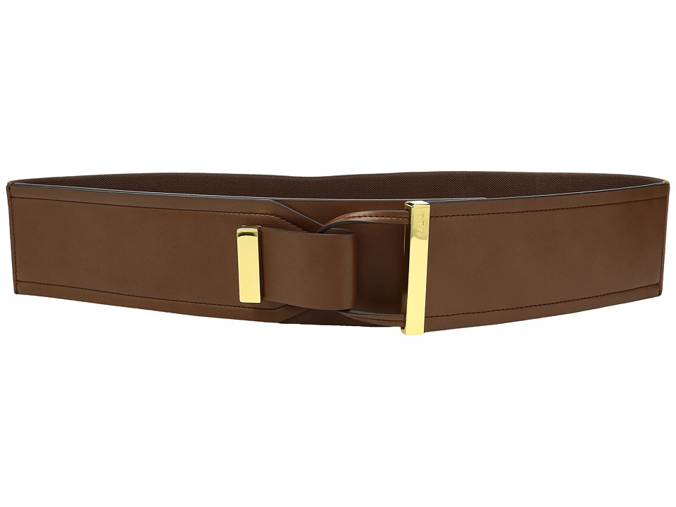 LAUREN Ralph Lauren - 2 5/8 Metal Tip Tab-Front Stretch (Tan) Women's Belts