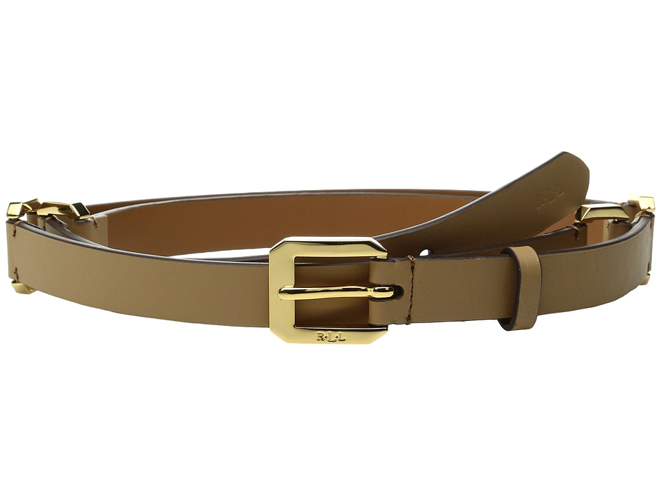 LAUREN Ralph Lauren - 3/4 Modern Link Chain Dress Belt (Camel) Women's Belts