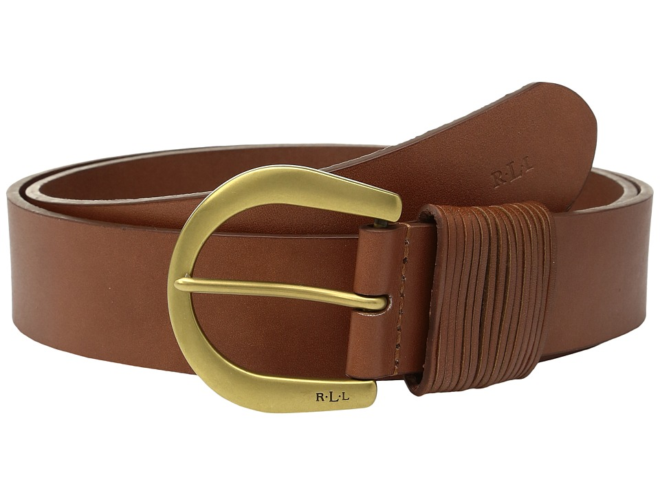 LAUREN Ralph Lauren - 1 1/2 London Wire Buckle on Veg Leather with Multi-Strand Keeper (Cuoio) Women's Belts