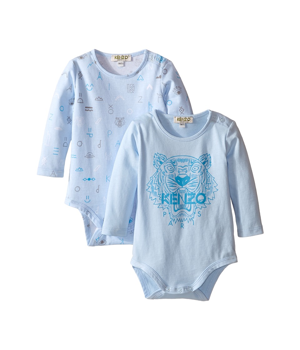 Kenzo Kids - Azo T Bodysuit (Infant) (Baby Blue) Boy's Jumpsuit & Rompers One Piece