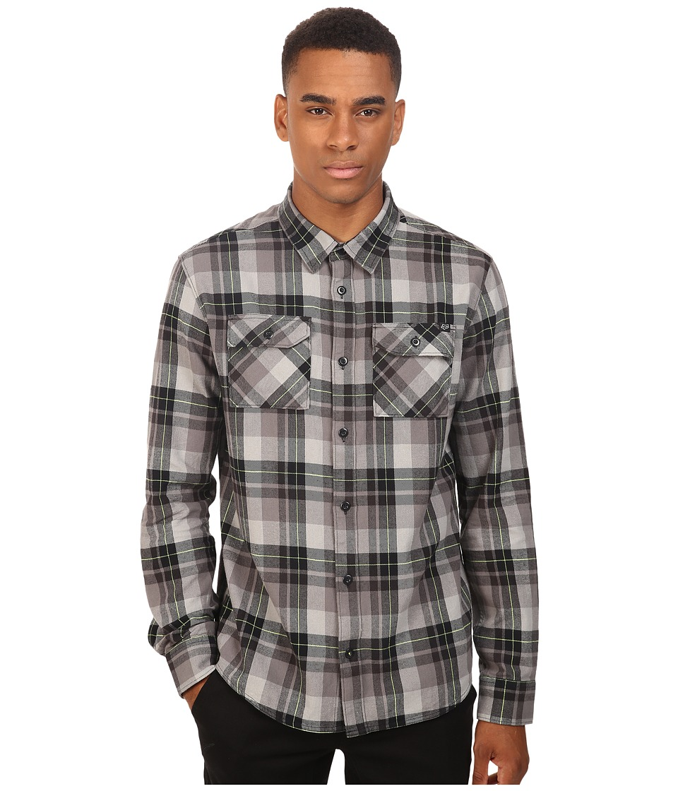 Fox - Traildust Long Sleeve Flannel (Black Vintage) Men's Clothing