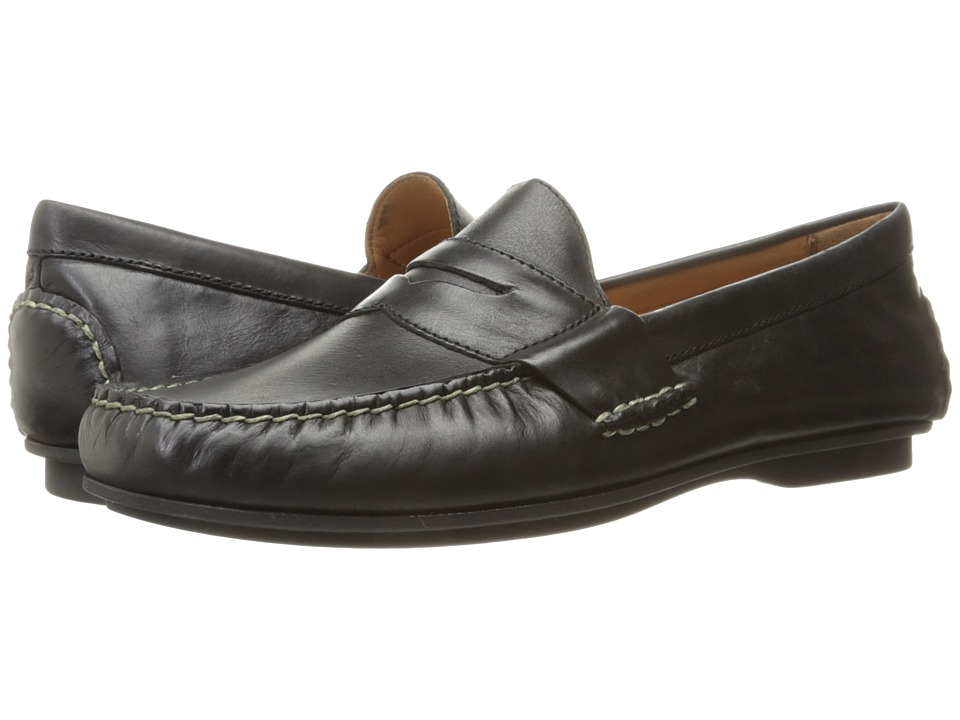 Polo Ralph Lauren - Abner (Black Smooth Oil Leather) Men's Shoes
