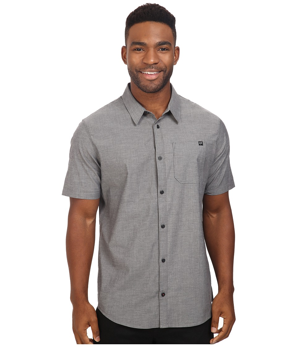 Fox - Drips Short Sleeve Woven (Black Vintage) Men's Clothing