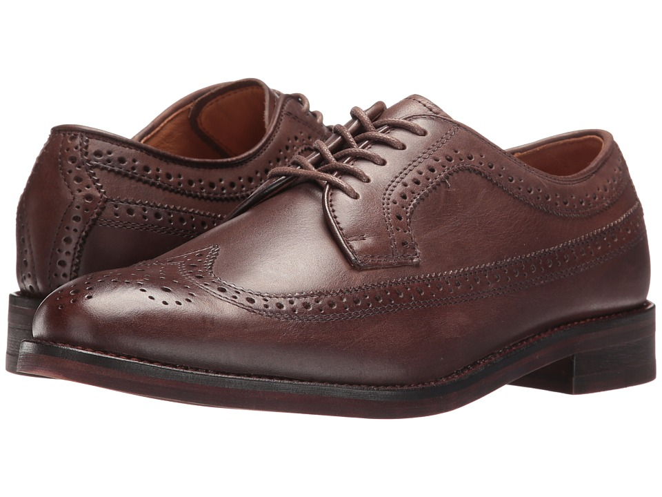 Polo Ralph Lauren - Moseley (Dark Brown Burnished Leather) Men's Lace Up Wing Tip Shoes