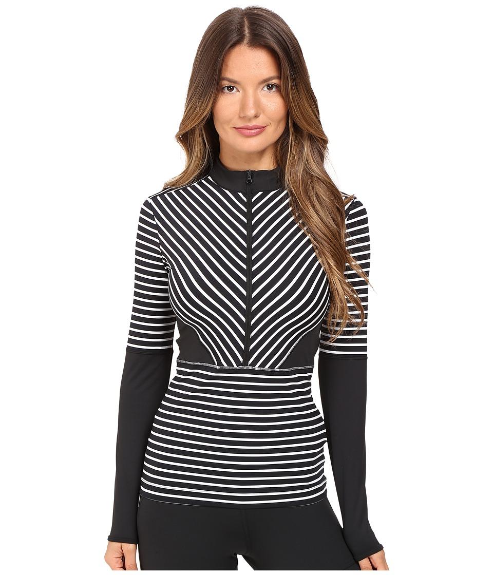 adidas by Stella McCartney - Studio Stripe Long Sleeve AX7056 (Black/White) Women's Clothing