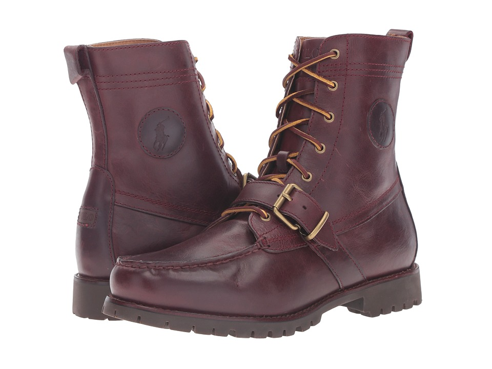 Polo Ralph Lauren - Ranger (Oxblood Smooth Oil Leather) Men's Lace-up Boots