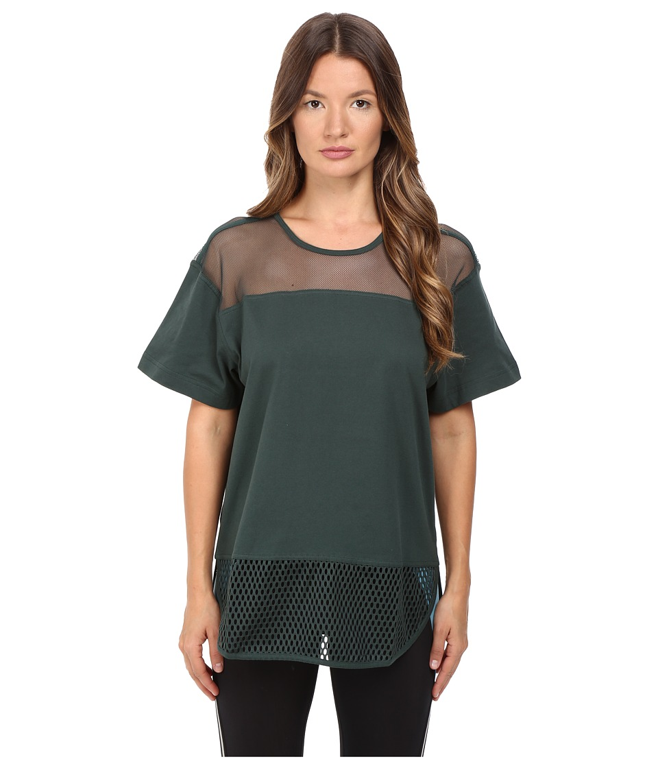 adidas by Stella McCartney Essentials Mesh Tee AX7107 (Deepest Green) Women